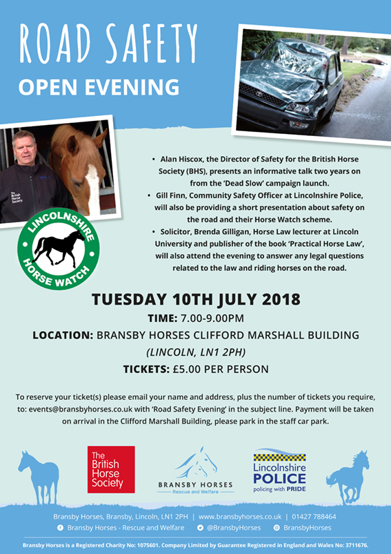 Road Safety - Open Evening @ Bransby Horses | Bransby | England | United Kingdom