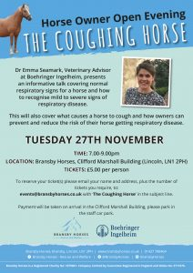 Horse Owner Evening- The Coughing Horse @ Bransby Horses