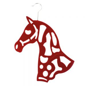 Horse Scarf Hanger Red