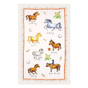 Horsing Around Tea Towel