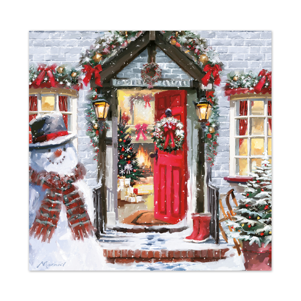 Christmas Cards Images.A Warm Welcome Christmas Card
