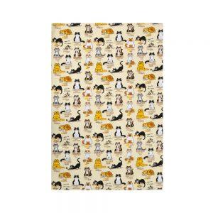 Cats Away Tea Towel