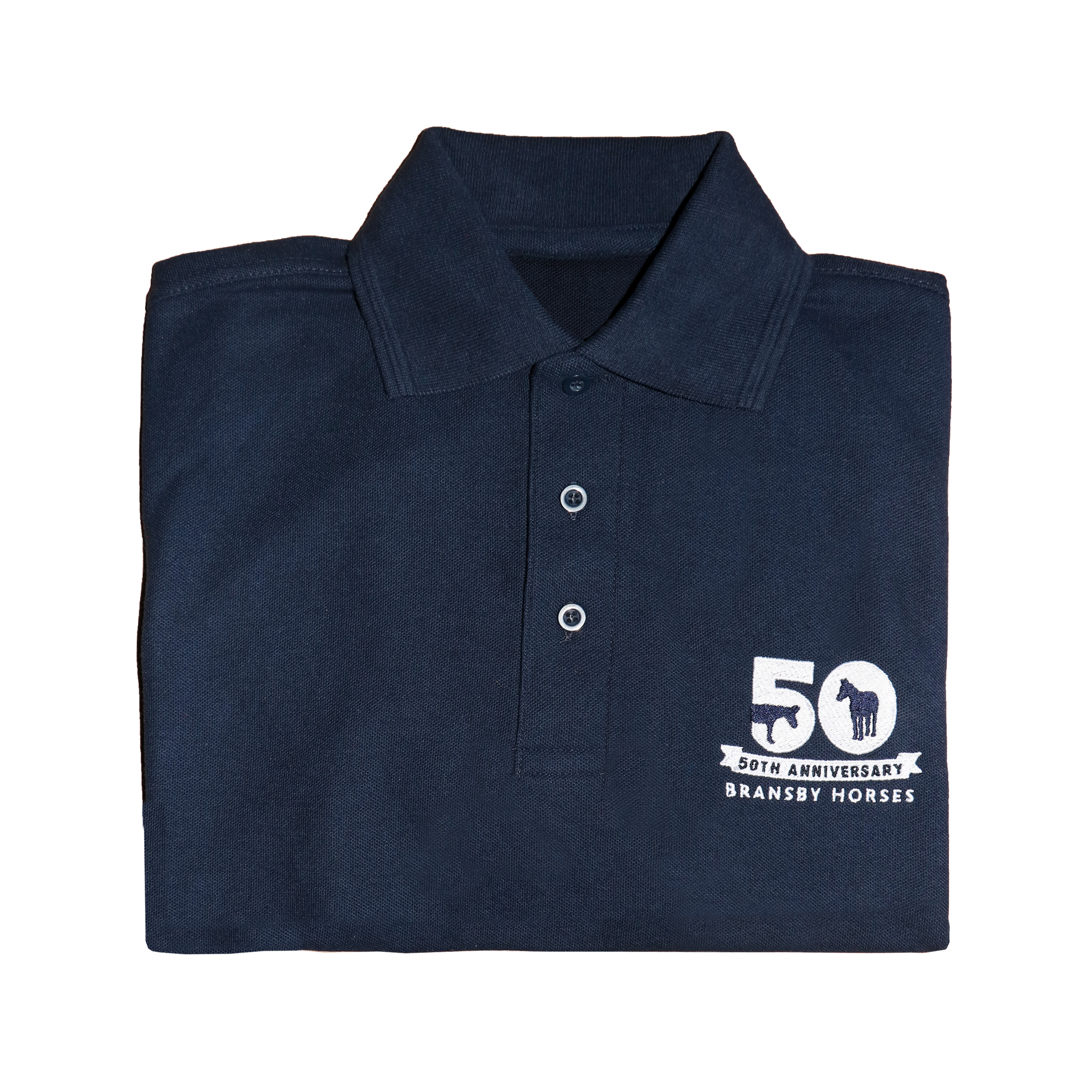 50th Anniversary Polo Shirt Bransby Horses