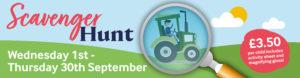 Scavenger Hunt runs from 1st to 30th September